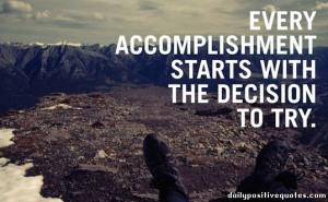 accomplishment - try